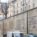 Eerste muurgedicht in Parijs – 'Le Bateau Ivre' van Arthur Rimbaud – wordt 14 juni 2012 onthuld