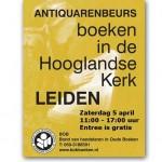 Boeken in de Hoooglandsekerk – antiquarische boekenbeurs Leiden