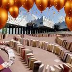 Gaat Bibliotheek Eemland het wereldrecord Boekendomino verbeteren?