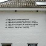 Anoniem muurgedicht in Hoogstraten