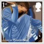 Postzegels voor 150e verjaardag Alice in Wonderland