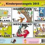 Kinderzegels 2015 met afbeeldingen uit de Gouden Boekjes