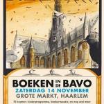 Boekenmarkt in de Bavokerk in Haarlem