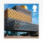 Library of Birmingham opgenomen in serie Landmark Buildings van Royal Mail