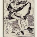 Erotische exlibris van Alphonse Inoue