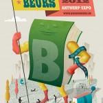 Presentatie affiche Boekenbeurs 2012 – Antwerpen