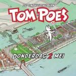 Beeld Tom Poes bij geboortehuis Marten Toonder