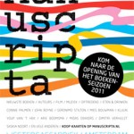 M A N U S C R I P T A – opening boekenseizoen 2011