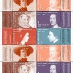 Postzegelvel ter gelegenheid van de tentoonstelling 1001 Vrouwen uit de Nederlandse geschiedenis