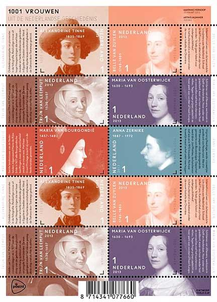 postzegels-1001-vrouwen-2013