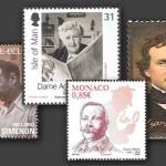 Postzegels met het thema schrijvers