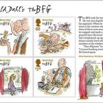 Postzegels ter ere van 30 jaar GVR van Roald Dahl