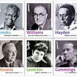 Tien Amerikaanse dichters op postzegelvel