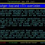 Dichter Rutger Kopland is overleden