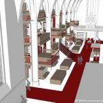 Verbouwing van de Broerenkerk in Zwolle voor nieuwe boekhandel Waanders gaat beginnen